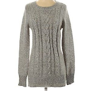 GRAY ST JOHNS BAY KNIT PULLOVER SWEATER